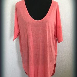 Old Navy Coral Scoop Neck Tunic